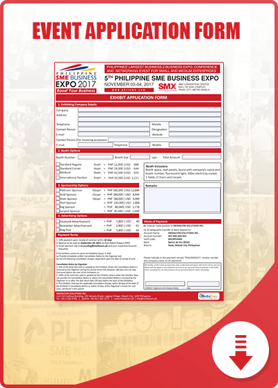 Philippine SME Business Expo Application Form