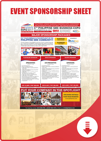 Philippine SME Business Expo Sponsorship Sheet